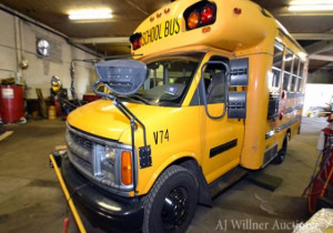 Live and Online Auction: Fleet of School Buses for Sale