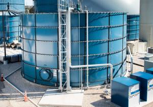 Usine de production de déchets alimentaires organiques en énergie / engrais