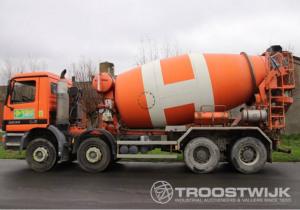 Trucks with concrete mixers