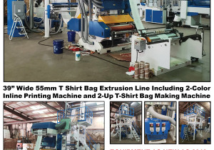 T-Shirt Bag Extrusion Line, Thermoformer