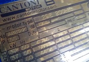 Cantoni Cantoni 37kw  electric motor