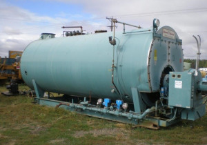 600 HP C.B. 15 PSI steam boiler w/good tubes