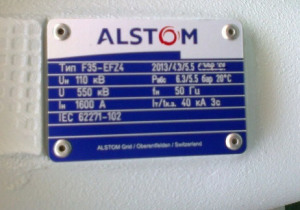 Alstom Gas-Insulated Substation 110 kV F35