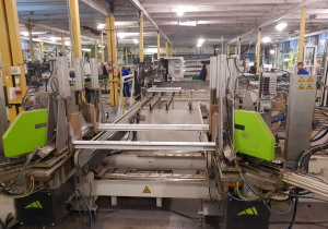 Fully automatic cutting and machining of PVC profiles for Windows and Doors BDM KMW