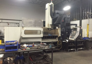 "MIGHTY VIPER HB-3190A 116"" x 76"" x 35"", Dual Auger, CAT50, 50HP, Fanuc 21iMB Ctrl, Conveyor"