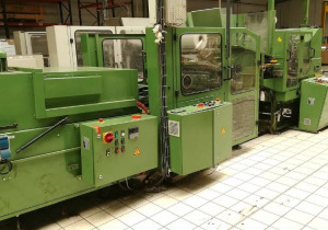 Möller RW800S +RP800S + SST800 – Roll winding machine With wrapper and labeller (1999)