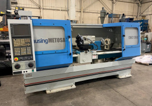 Used Clausing Metosa Model 1760 / Cnc-225 2-Axis Flat Bed Cnc Lathe, 2004