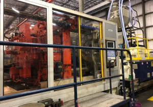KRAUSS MAFFEI 880-TON PLASTIC INJECTION MOLDING MACHINE 1999