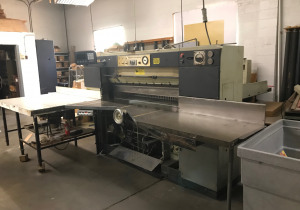 """Harris Seybold 65"""" cutter w/air table & Microcut autospacer, CKE - 1646 - A  SABER IV"""