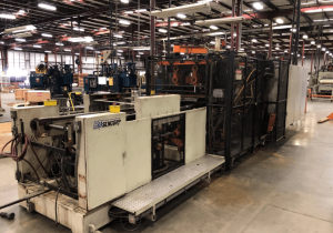"""Used 1999 Sencorp Model 2500 Sd Inline Thermoformer, Servo Driven Platens, 30"""" X 33"""" Forming Area"""