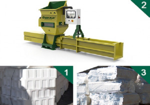 GREENMAX A-C100 polystyrene compactor for sale