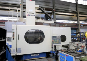 Hankook VTC-160E CNC Vertical Turning Lathe w/ C-axis