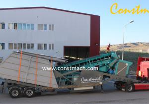 CONSTMACH 60 M3/h capacity MOBILE CONCRETE PLANT