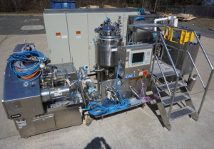Krieger/Dyno-Mill Blending & Pulverizing Skid For Cosmetic Preparations