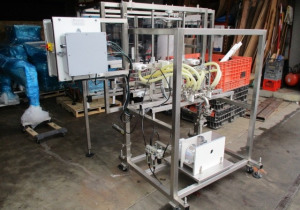 Inline Filling Systems Overflow Filling Line, with Capper and Labeler