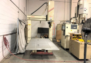 Used Thermwood Model C 67 5′ x 10′ Table 5 Axis CNC Router, New in 2001