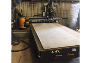 Used 2017 Multicam 5′ x 10′ Cutter/ CNC Router 60″ x 120″ Table, New in 2017