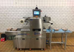 Fully automatic MAP tray sealing machine APACK autoMAP100mini