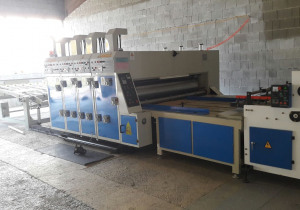 Huayu Carton Machinery Dongguang HY-A Series Flexo 3 Color Printer Rotary Die Cutter with Sut Auto feeder
