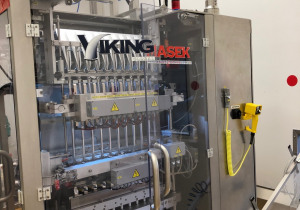 Viking Masek  10-lane Stick Pack Machine for Liquids and Powders with Automatic Cartoner