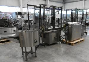 SERAC GAIA filling and closing line for vials containing liquids and powder