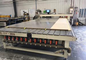 Used Axyz Automation Model 8016 Cnc Router, 8′ X 18′ Table, New In 2001