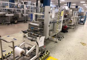 Ligne complète d'emballage pour ampoules en plaquettes alvéolées avec cartonnage et emballage