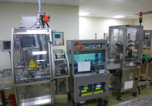 Complete blister packing line for tablets & capsules with IMA C60 Plus, checkweigher, vignette labeller and bundler shrink wrapper