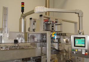 Siebler + Göring 5000/160E vertical four side seal strip packer for effervescent tablets