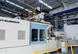 Mitsubishi 1300MMIIIW-240 (2000) Wide Platen Injection Molding Machine