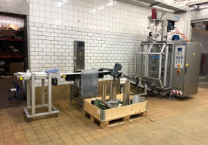 KOPAS/Optima Control Systems GmbH JK 200 F-K SD 80 Vertical bag filling, packaging and weighing line