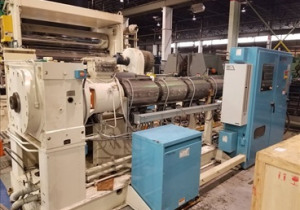 "Cincinnati Milacron Extrusion Line W/ (1) 6"" & (1) 4.5"" Apex Single Screw Extruder"