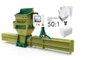 GREENMAX A-C200 EPS compactor to recycle foam waste