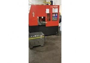 AMADA CTB400 CNC CARBIDE BLADE VERTICAL BAND SAW W/ CONVEYOR