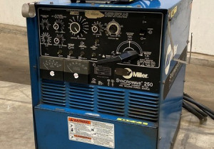 Miller Syncrowave 250 Dual Duty Cycle TIG And Stick Welding Power Source W/ PC-300 GTAW Pulser Control