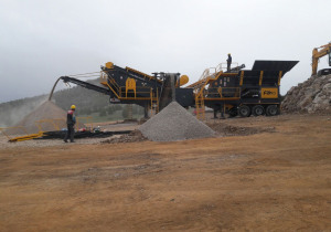 FABO PRO 100 MOBILE CRUSHING & SCREENING PLANT FOR MARBLE