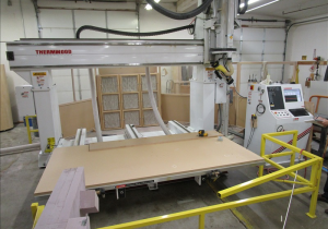 "Used Thermwood Model 90 5 Axis Router 5′ X 10′ Vacuum Table 36"" Z, New In 2012"
