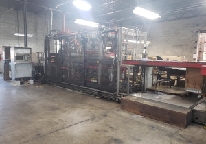 """Used 1999 Dt/Armac Model 3640 Inline Thermoformer With 36"""" X 40"""" Forming Area, Form And Trim Inline"""