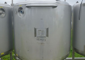 1600 L Vertical Stainless Steel Storage Tank