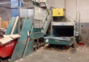 Maren Corrugated Box Shredder W/ Dump Cart & Conveyor