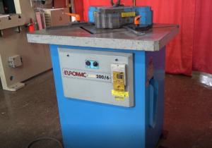 Pre-Owned Euromac Hydraulic Corner Notcher, Model 200/6