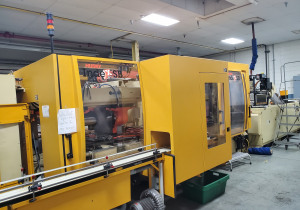 Husky IND125 ISB RS65/65 Preform inject and blow mould on the same machine.