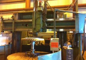 "144"" Gray Cnc Vertical Boring Mill, 160"" Swing, 50 Rpm, Fanuc Ot"