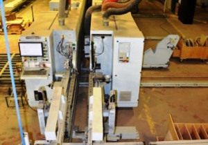 Complete Loading/Unloading Homag Double-Sided Edgebander Drilling Line  (2 of 2 lines)