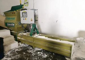 Recycling machine of GREENMAX polystyrene compactor A-C100