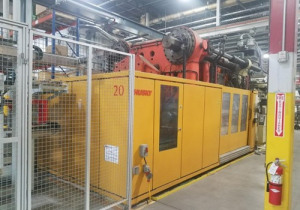 Husky 2000-Ton Plastic Injection Molding Machine 1997