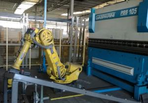 Robotic Plant With Press Brake Gasparini And Robot Fanuc R-2000Ia 165F