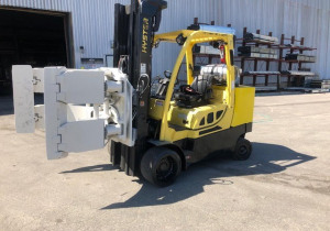 12,000 Pound Hyster Model S120Ftprs Roll Clamp Forklift Mfg. 2016