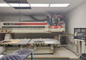 Used Komo Vr1205Tt Mach2S Cnc Router, (2) 5′ X 6′ Tables, New In 2006