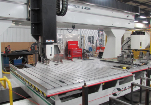 Used C.R. Onsrud Model F148E15 5-Axis Extreme Series Cnc Router, 5′ X 12′ Table, New In 2017